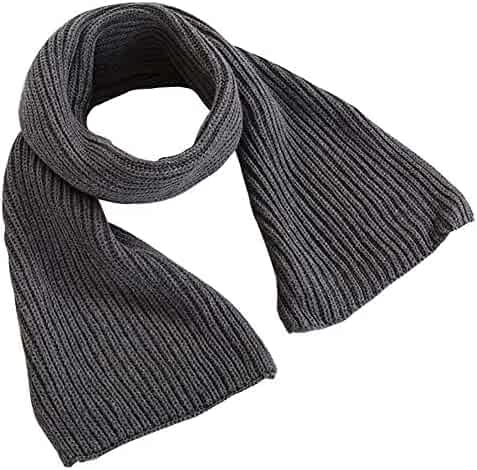 601d206cde3 Kids Toddlers Infant Winter Knitted Scarf Solid Color Scarves for Neck Warm