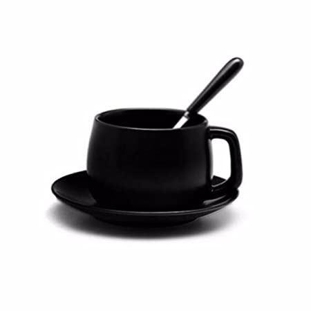 european cup office coffee. Coffee Mugs European Style Cup And Saucer Set Simple Matte Black Cup, Office /