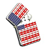 Lacrosse American Flag - Silver Chrome Pocket Lighter by Elements of Space