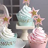 Joyful 10PCS Twinkle Little Stars Cupcake Toppers