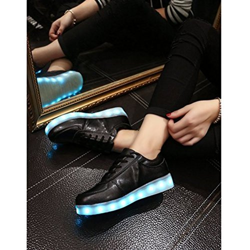 JUNGLEST® Colors Couple 7 Fl Casual Sport small Luminous Charging Black Unisex towel Lighted Men Women LED Shoes Present USB 4Ew0Oq