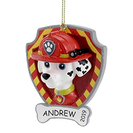 Paw Patrol Christmas Ornaments Personalized.Dibsies Personalization Station Personalized Paw Patrol Kids Christmas Ornament Marshall