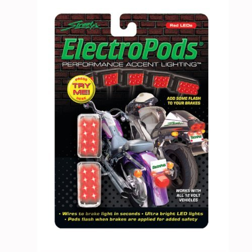 Electropod Brake - Street FX 1043311 ElectroPods Chrome Moto Brake Light by Streetfx