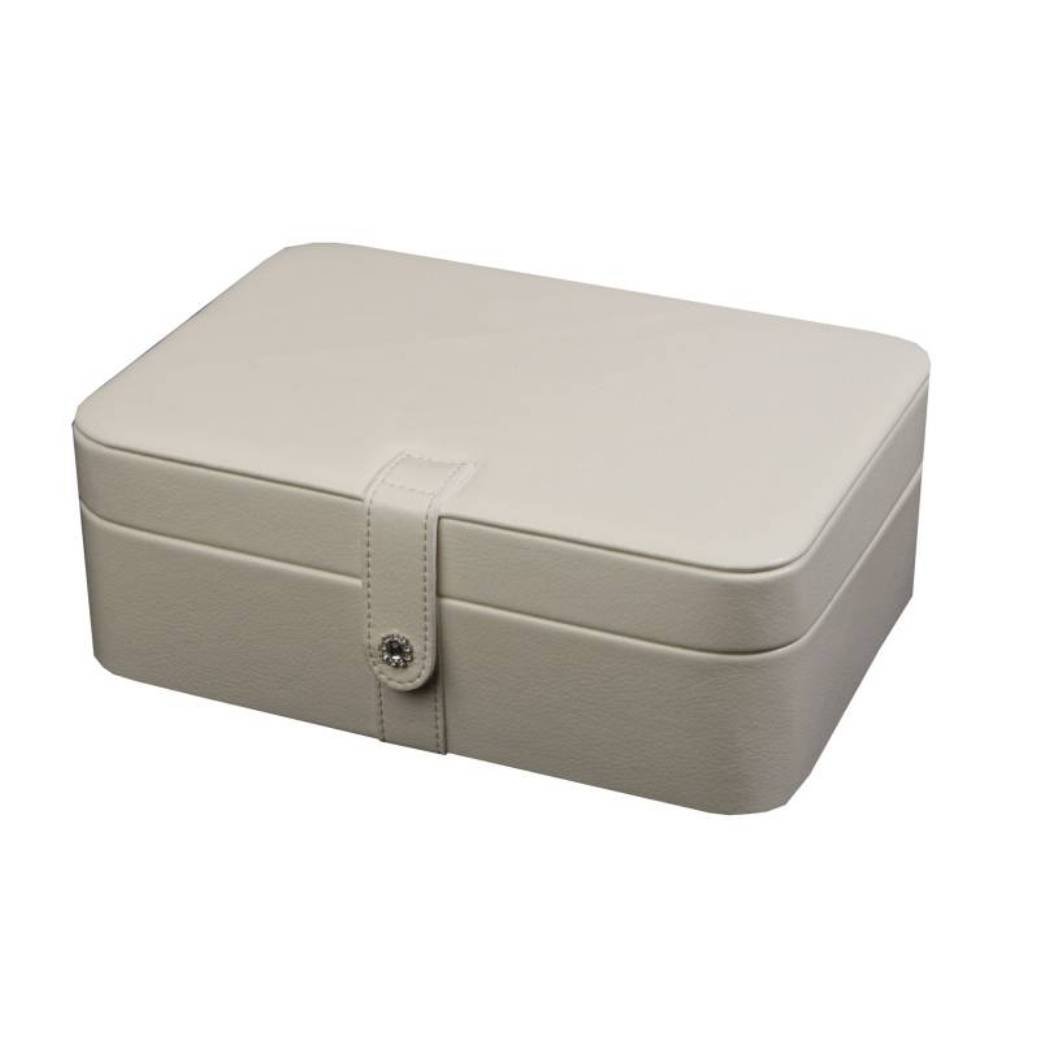 Mele Jewel Cases Lila Forty-Eight Section Jewelry Box (White)