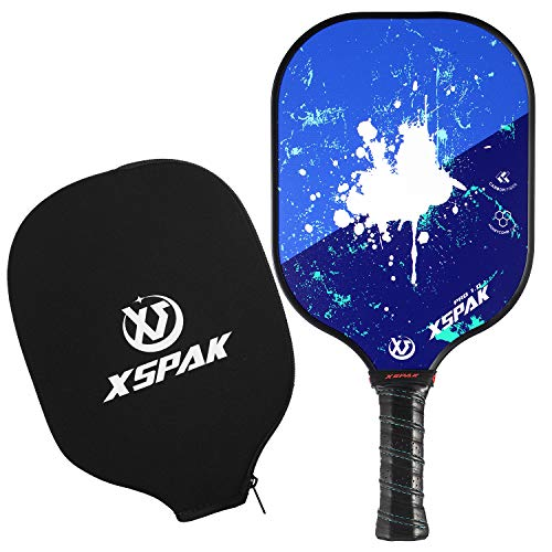 XS XSPAK Graphite Pickleball Paddle Set, Lightweight Graphite Honeycomb Composite Core Paddles Sets of 2, USAPA Approved
