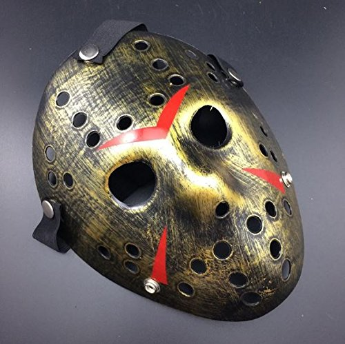 Costumes Props (Jason Voorhees Friday the 13th Horror Movie Hockey Mask Halloween Scary Mask Costume)