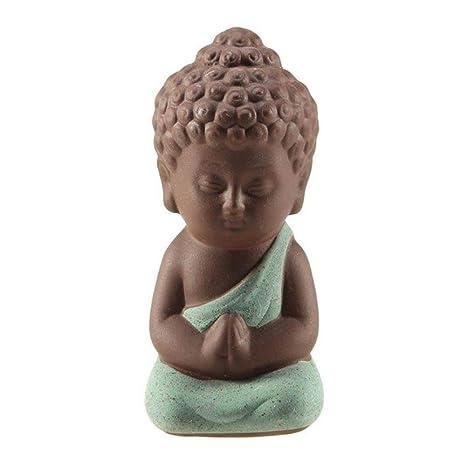 BYBYGA Estatua Increative Small Buddha Statue Monk Figurine ...