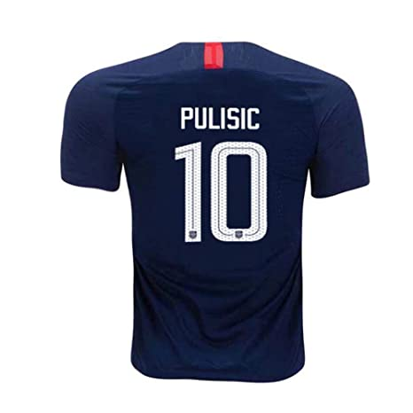 a1d19e917 Mens Pulisic Jersey US Away #10 Star Christian National 2018/19 Sizes Blue (