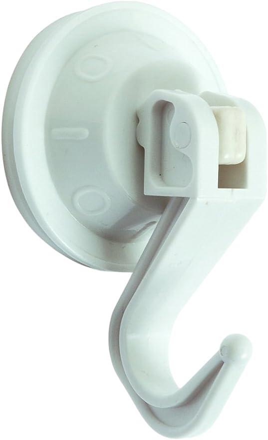 Brinox B50510B Color Blanco 4,4 x 4,4 x 3,3 cm Colgador articulado con Ventosa