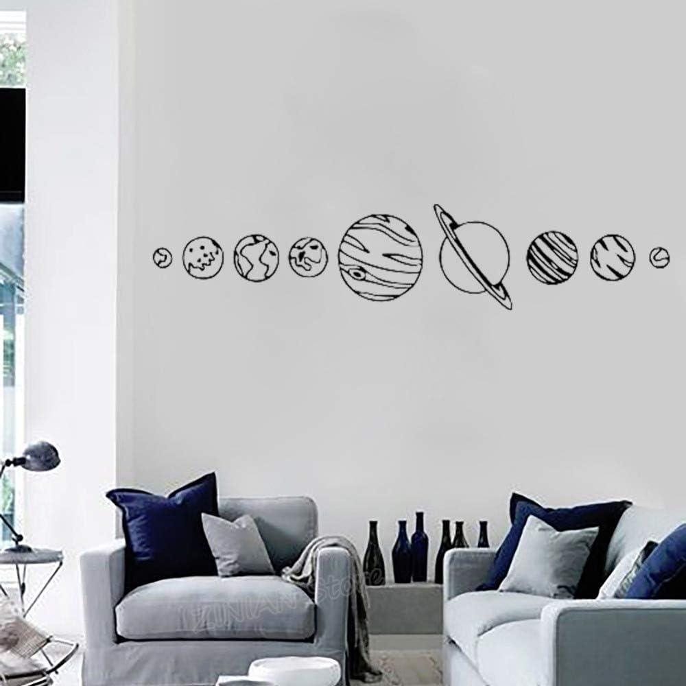 CDNY Sistema Solar Tatuajes de Pared Sala de Estar Decoración del ...