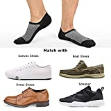 SIXDAYSOX Mens 8 Pairs No Show Socks Odor-Resistant Cotton Non Slip Low Cut Invisible Socks Mesh Knit 6-11