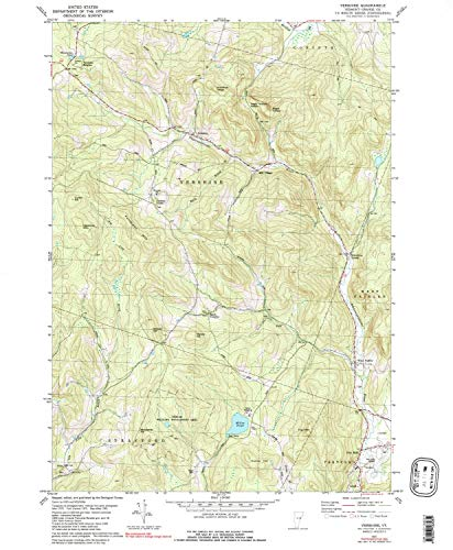 YellowMaps Vershire VT topo map, 1:24000 Scale, 7.5 X 7.5 Minute, Historical, 1981, Updated 1991, 26.7 x 22 in - Paper