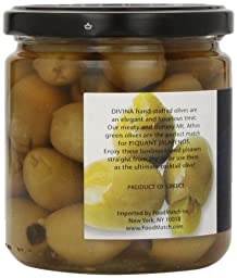Divina Green Olives Stuffed w/ Jalapeno Peppers, 7.8 oz