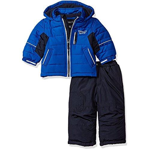 London Fog Baby Boys 2-Piece Snow Pant and Jacket Snowsuit, Blue, 12M