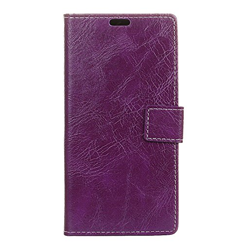 AICEDA LG K8 2018 Wallet Case, LG K8 2018 Leather Case, Premium PU Leather Excellence Folio Stand Bumper Back Cover for LG K8 2018 - Purple