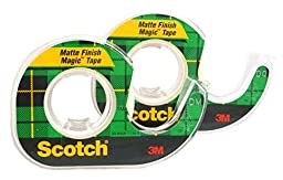 Scotch Magic Tape, 1/2 x 450 Inches, 2-PACK