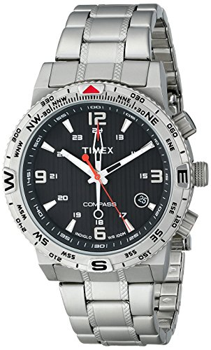 - Timex Men's T2P289 Intelligent Quartz Adventure Series Stainless Steel Compass Watch