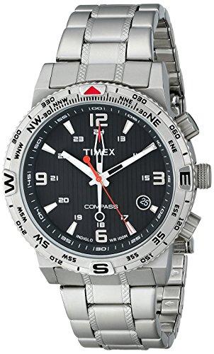 (Timex Men's T2P289 Intelligent Quartz Adventure Series Stainless Steel Compass)