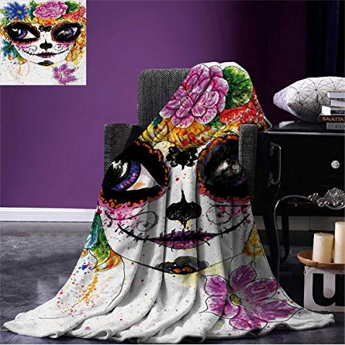 Anniutwo Sugar Skull Outdoor Blanket Cultural Celebration Mexican