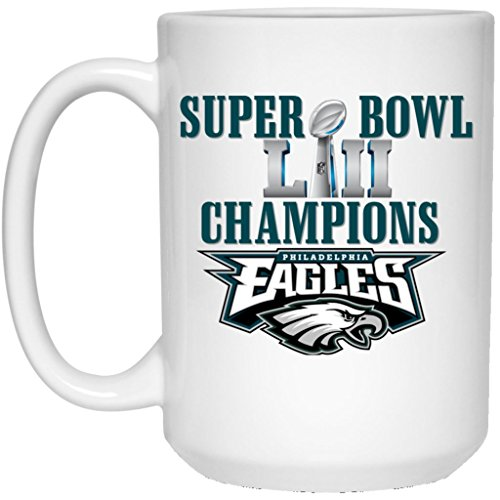 Nfl Ceramic Coffee (Philadelphia Eagles Coffee Mug | Eagles Mug | Super Bowl 52 Champions Philadelphia Eagles | 15 oz White Ceramic Mug Cup | NFL NFC National Football League | Perfect Unique Gift For Any Eagles Fan!)