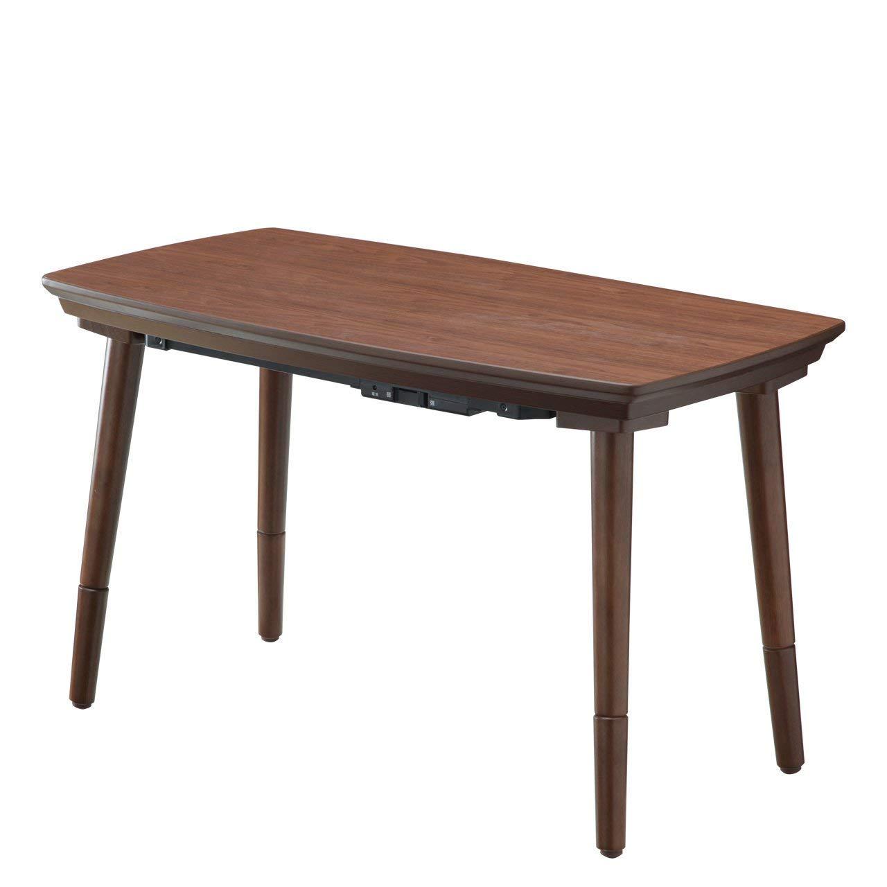 高さが変わると2倍楽しい 2WAY こたつテーブル 90×50 ウォールナット 高さ調節 継ぎ脚 ハイタイプ B07HGTG89S
