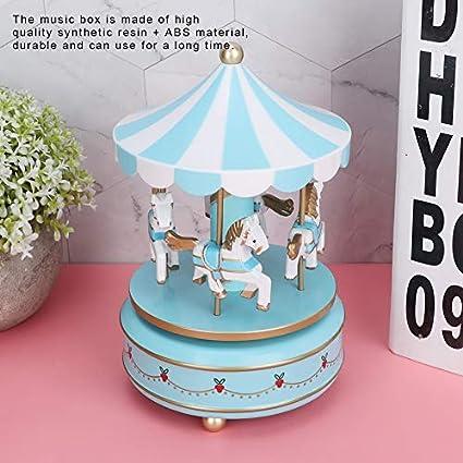 1# AUNMAS Carousel Music Box Kids Toy Merry-Go-Round Music Box for Christmas Wedding Birthday Gift Girls Gift Home Decor