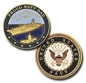 Proud Navy Dad Challenge Coin