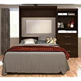 101 in. Queen Wall Bed Kit in Chocolate