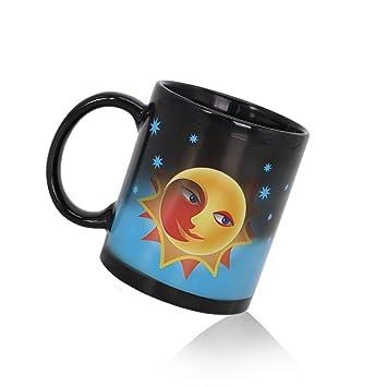 Farbwechsel Mug Mond Sonne Thema Magische Keramik Tasse Lustige Geschenke