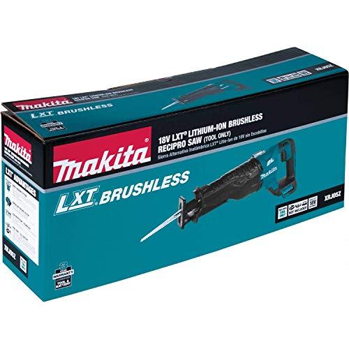 Makita XRJ05Z 18V LXT Lithium-Ion Brushless Cordless Recipro Saw, Tool Only (Renewed)