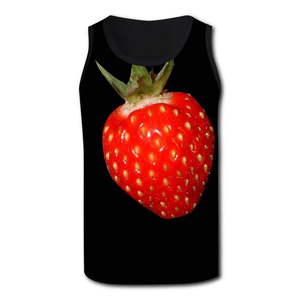 Gjghsj2 Strawberry Design Mens Tank Top Vest Shirts Singlet Muscle Sleeveless Underwaist for Gym