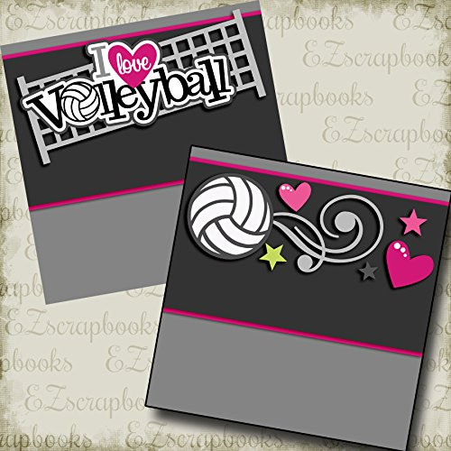 (I LOVE VOLLEYBALL NPM - Premade Scrapbook Pages - EZ Layout 2555 )