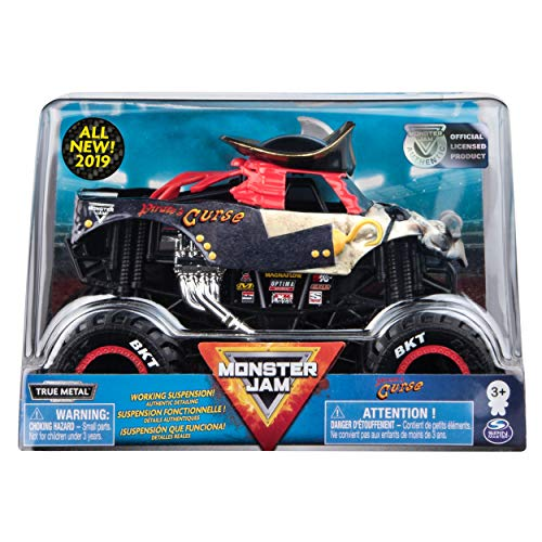 24 Scale Replica Truck - Monster Jam Official Pirate's Curse Monster Truck, Die-Cast Vehicle 1:24 Scale