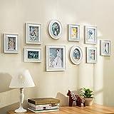 ALUS- 10 Multi Photo Frames Set European Style Pastoral Bedroom Restaurant Living Room Modern Minimalist Photo Wall