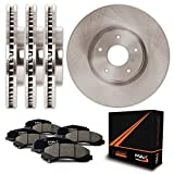 Front + Rear Premium OE Blank Rotors and Ceramic Pads Brake Kit KT015243 | Fits: 2012 12 2013 13 2014 14 Ford F150 w/ 6 Mounting Holes