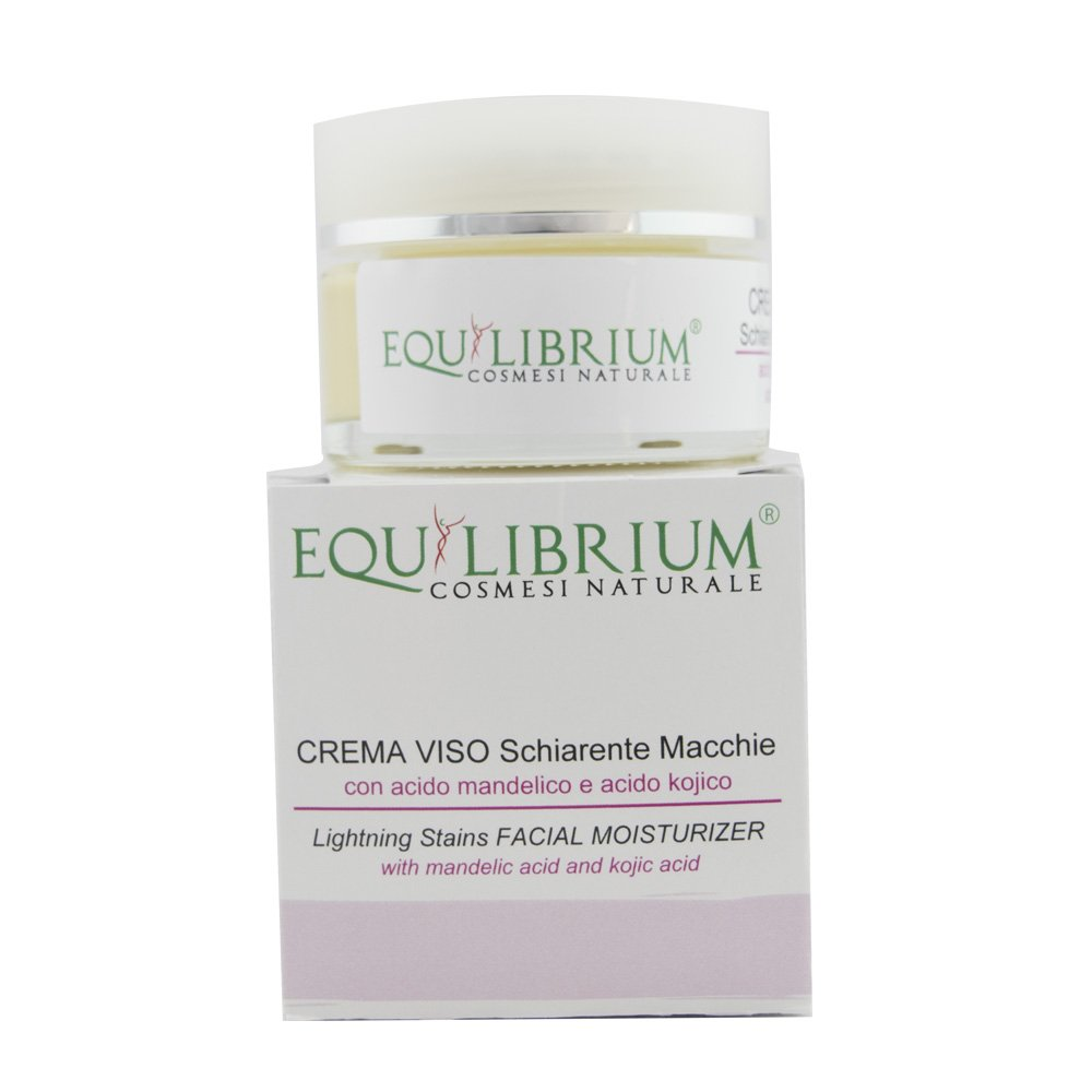 EQUILIBRIUM - COSMESI NATURALE Crema viso schiarente macchie 30 ml con Acido Mandelico e Acido Kojico LICOPHARMA