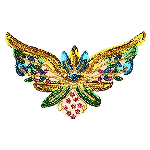 Butterfly Embroidery Applique Patch Iron/Sew On Clothes ()