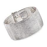 Ross-Simons Italian Sterling Silver Wide Diamond-Cut Bracelet
