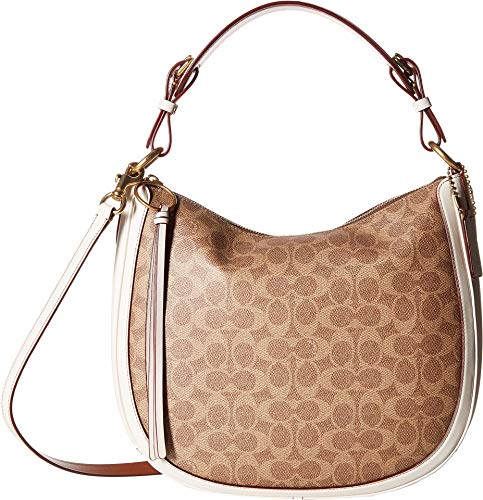 Amazon.com  COACH Women s Coated Canvas Signature Sutton Hobo Gold Charcoal  Midnight Navy One Size  Shoes 5241bef06e2cd