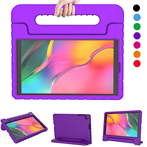 LTROP Kids Case for Samsung Galaxy Tab A 10.1 (2019) SM-T510/T515, Shockproof Light Weight Protective Convertible Handle Stand Kids Proof Case for Galaxy Tab A 10.1 Inch 2019 Release - Purple (Best Light Stand 2019)