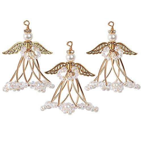 Solid Oak Golden Angels Ornament Kit, Gold