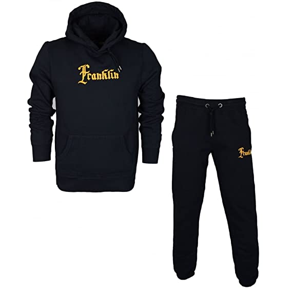 Franklin /& Marshall Black Hooded Tracksuit