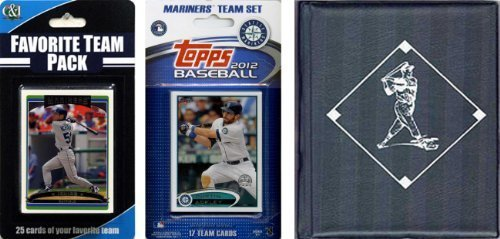MLB Seattle Mariners Licensed 2012 Topps® Team Set and Favorite Player Trading Cards Plus Storage Album ()