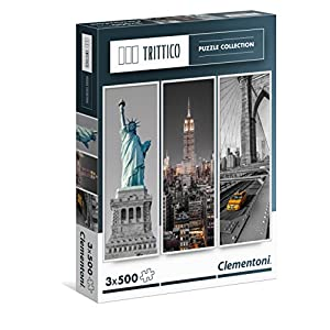 Clementoni 39305 Trittico Puzzle New York 3 X 500 Pezzi