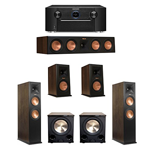 Klipsch Walnut 52 System With 2 RP 280FA Tower Speakers 1 450C