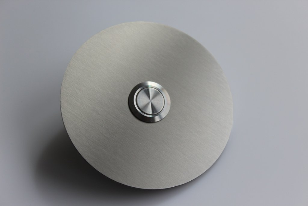 ... (Becker de B Ø 7,4 cm con un Premium Acero Inoxidable botón de timbre/pulsador/sin LED/sin grabado - opcional dazubuchbar: Amazon.es: Iluminación