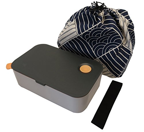 Jay+Gray Bento Box Set Traditional Japanese Minimalist Lunch Box with an Insulated Container and Bento Bag