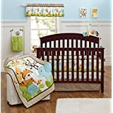 Elephant Monkey 9pcs crib set Baby Bedding Set Crib Bedding Set Girl Boy Nursery Crib Bumper bedding with Diaper bag Curtain