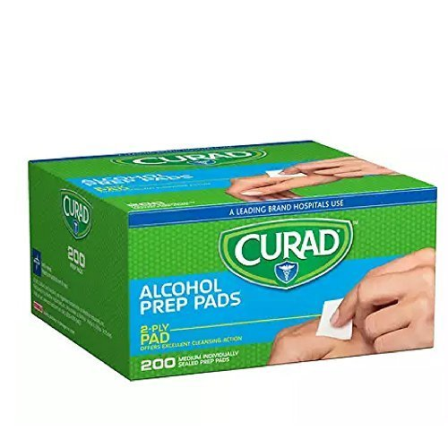 Curad Alcohol Prep Pads 200 Ea (Pack Of 2)