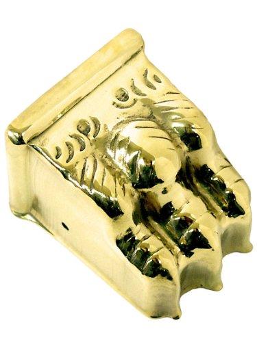 (Medium Brass Clawfoot Toe Cap in Un-Lacquered Brass )